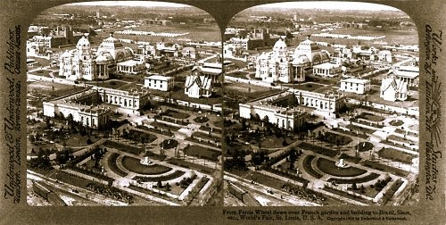 Birdseye Stereoscopic View of The 1909 World's Fair In St. Louis, Missouri