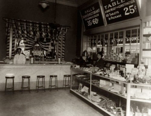 1920s Marble Soda Fountain In Pharmacy