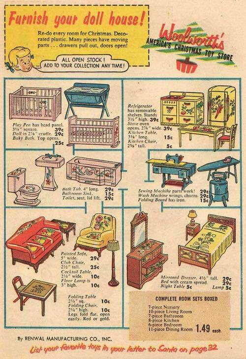 1950s Doll House Furniture