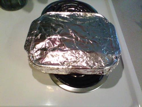 Aluminum Foil Covered Fudge