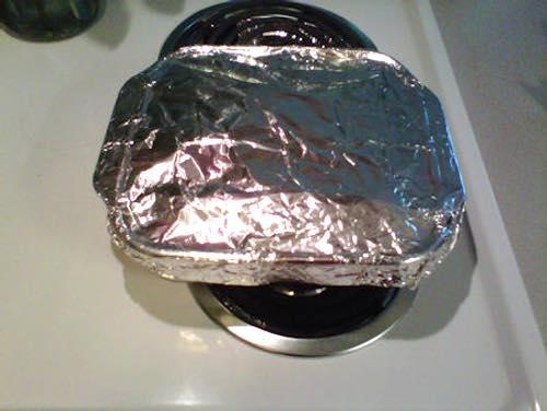 Aluminum Foil Covered Fudge