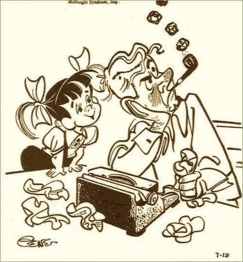 Angel Face Cartoon from 1957
