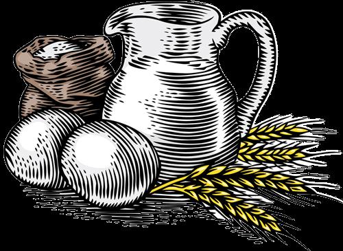 Wheat Flour, Eggs and Milk
