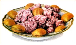 Beet Fritters with Ice Cream