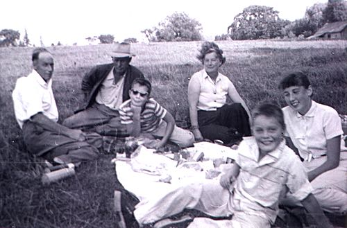 Bell and McIlmoyle Family Picnic at Rice Lake, Ontario, 1958