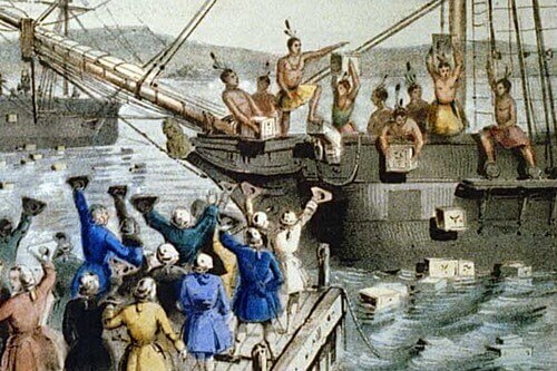The Boston Tea Party Protest in 1773