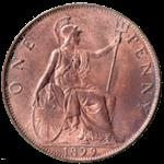 British Large Penny 1899