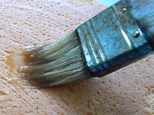 Brushing Sugar Glaze on the Cake