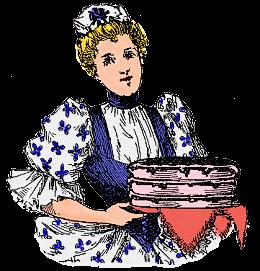 Maid Serving a Homemade Cake