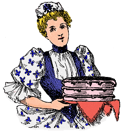 Maid Serving a Homemade Cake