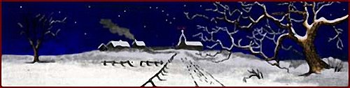 Canadian Village on Christmas Eve