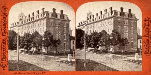 Stereoscopic View of Cataract House Hotel, Niagara Falls, N.Y.