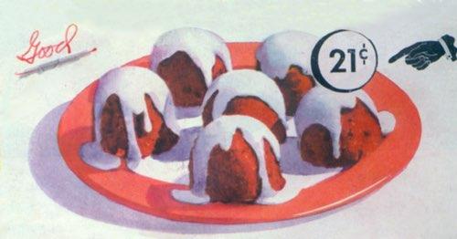 Vintage Chocolate Snow Peaks Dessert