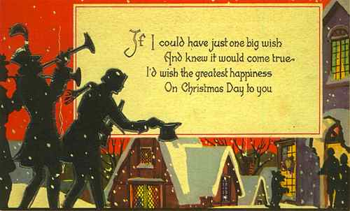 Vintage Christmas Day Card