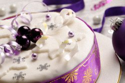 Christmas Fruitcake Decorated