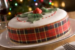 Christmas Fruitcake Iced For The Holidays