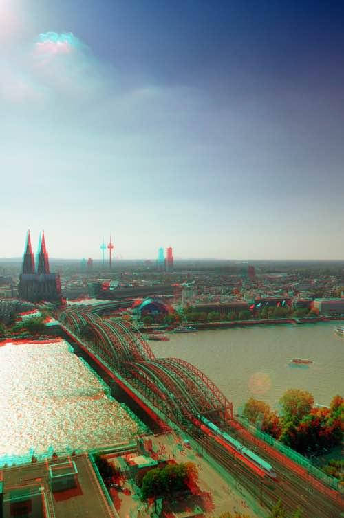 Cologne City Germany in Anaglyph 3D