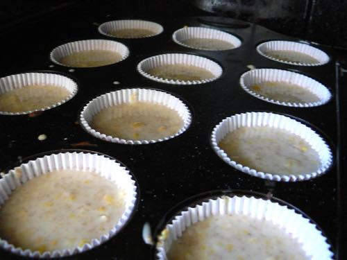 Cornbread Muffins Ready to Bake