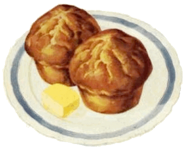 Homemade Cream Muffins on a Plate