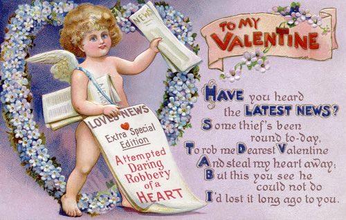 Vintage Cupid Valentine Card