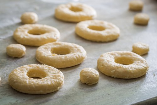 Cut Homemade Donuts
