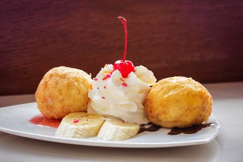 Deep Fried Ice Cream Dessert