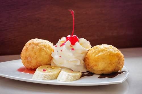Deep Fried Ice Cream Dessert