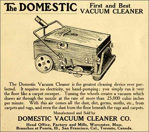 The Domestic Vacuum Cleaner