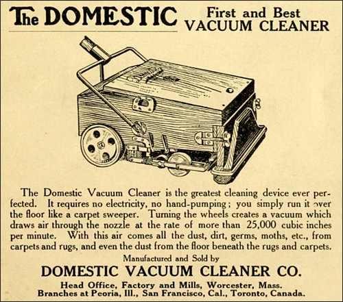The Domestic Vacuum Cleaner