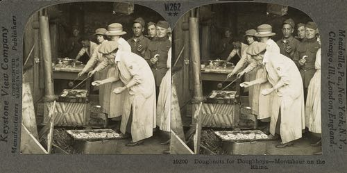 Y-Girls Making Doughnuts in Germany for American Soldiers 1914-18