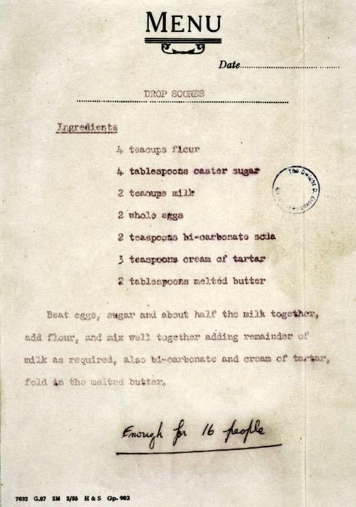 Queen Elizabeth's Drop Scone Recipe