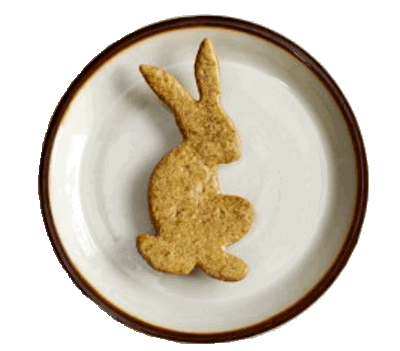 Easter Bunny Cookie on a Decorative Plate