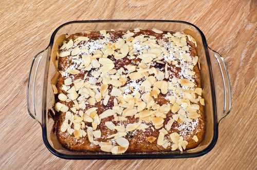 Easy Banana Cake in Baking Dish