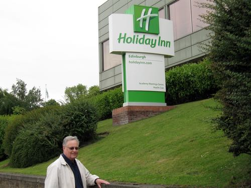 Don Bell at the Holiday Inn Edinburgh, Scotland