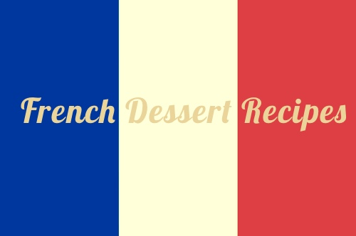 French National Flag Promoting Desserts
