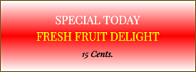 Fresh Fruit Delight Sundae Sign