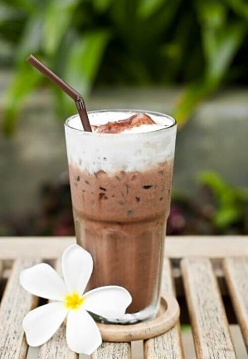 Frosty Chocolate Cold Drink