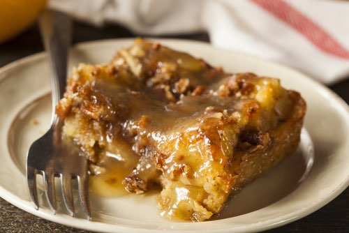 German Bread Pudding with Sauce