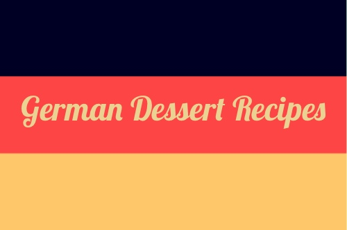 German National Flag for Desserts