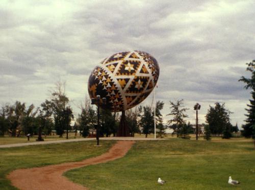 Pysanka - World's Biggest Easter Egg in Vegreville, Alberta, Canada