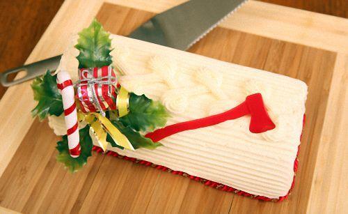 Homemade Graham Wafer Yule Log Cake For Christmas