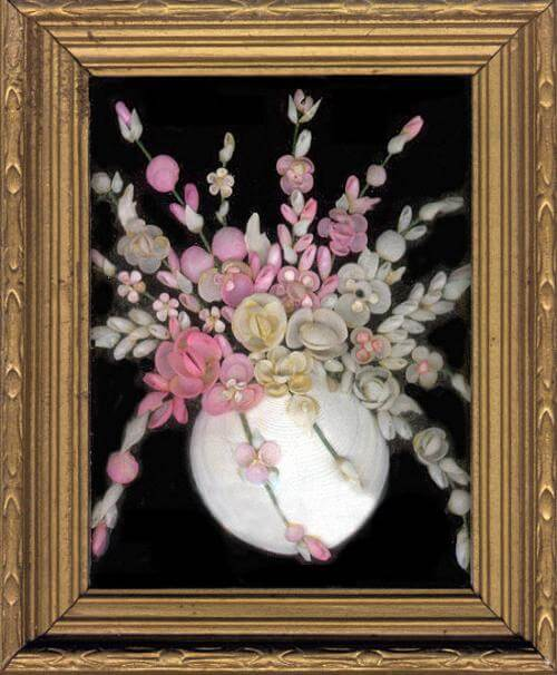 Framed Shell Work Bouquet