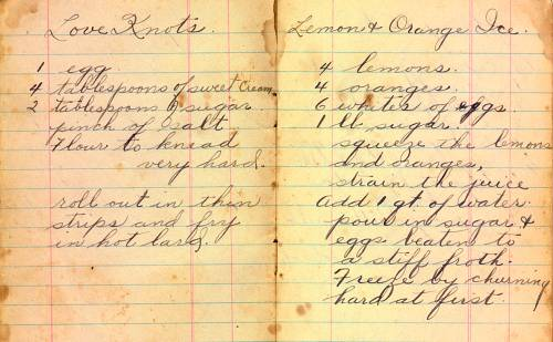 Grandma McIlmoyle's Handwritten Dessert Recipes