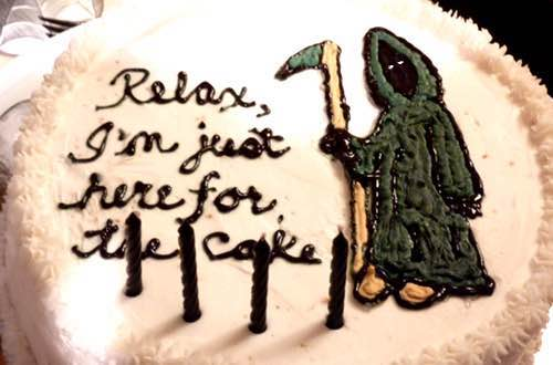 Grim Reaper Cake Decoration