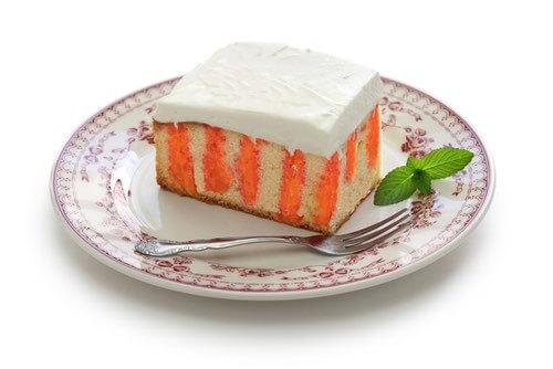 Piece of Halloween Poke Cake