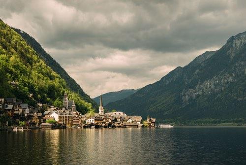 View of Hallstatt Village, Tirol, Austria