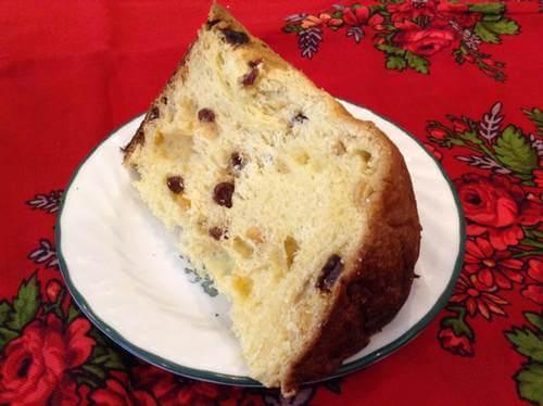 Homemade Panettone Cake Slice