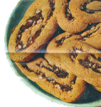 Vintage Honey Date Cookies on a Plate