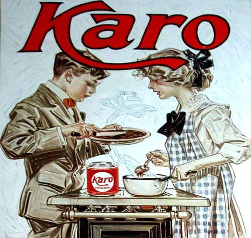 Kids Making Candy in an Old Fashioned Karo® Corn Syrup Illustration, 1919