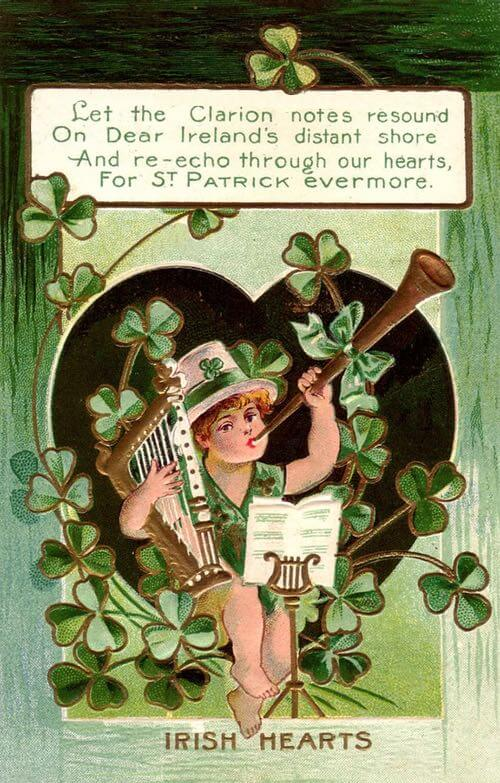 Irish Hearts Greeting c.1915